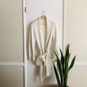 SKIN Off-White Cardigan Sweater